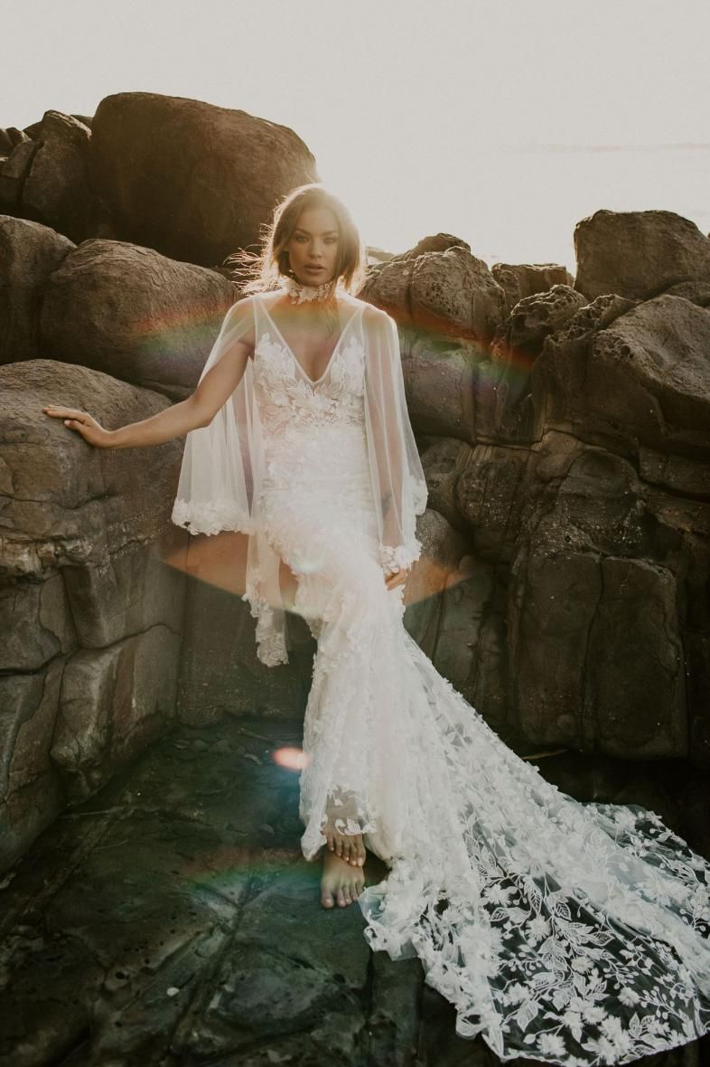 Made With Love Carla Carla Cape Bridal Styled Shoot Wedding Dress Inspiration Bride Style [ 1180 x 786 Pixel ]