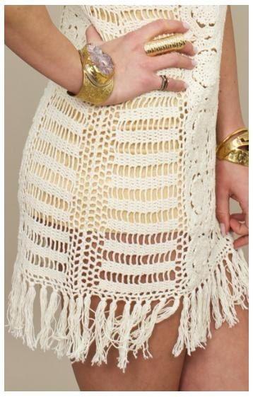 Summer Crochet Dress/Crochet Fashion dressSpring by Kninghandmade