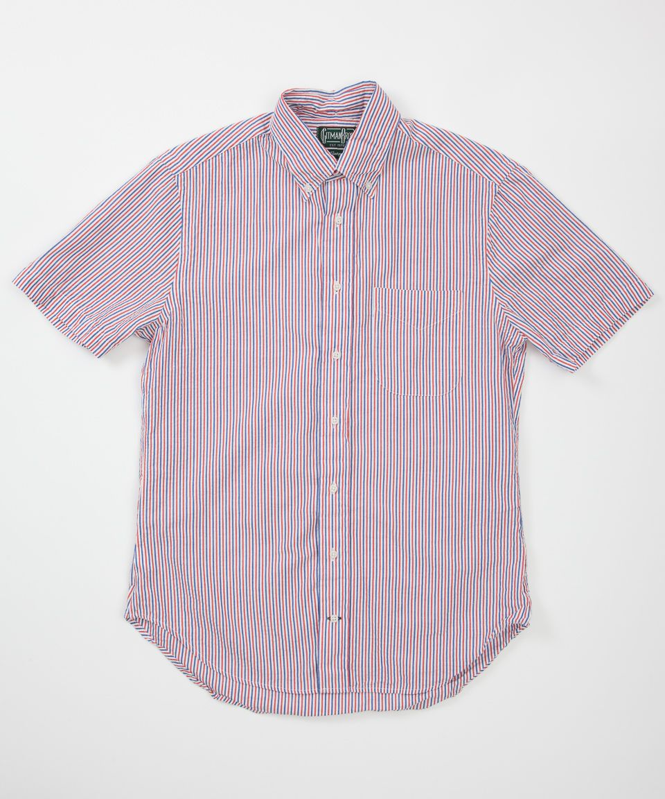 9663805d3b32 Gitman Vintage Short Sleeve Seersucker Stripe Shirt - Red