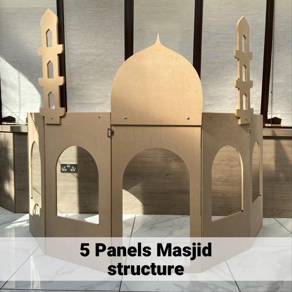 My Mini Masjid 3 Panel Solid Structure Role Play Ramadan Eid Gift Islamic Wall Art Ramadan Eid Gifts