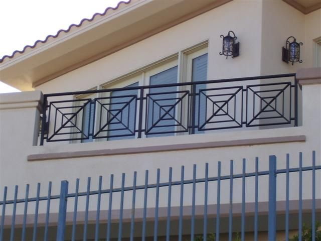 Balcony railing design home design inside stair for Terrace design with grills