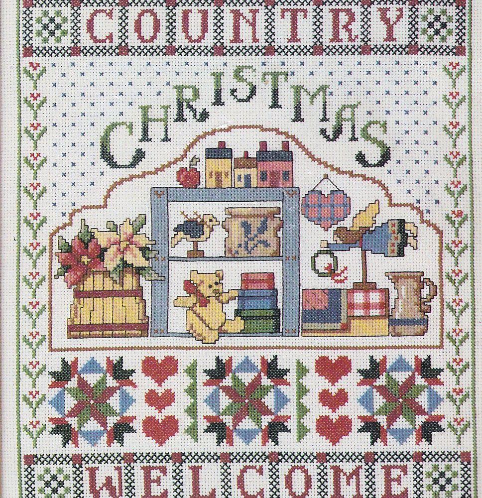 Country Christmas Welcome Design Works Cross Stitch Kit Toys Angel Sampler 11x14 #DesignWorks #Sampler