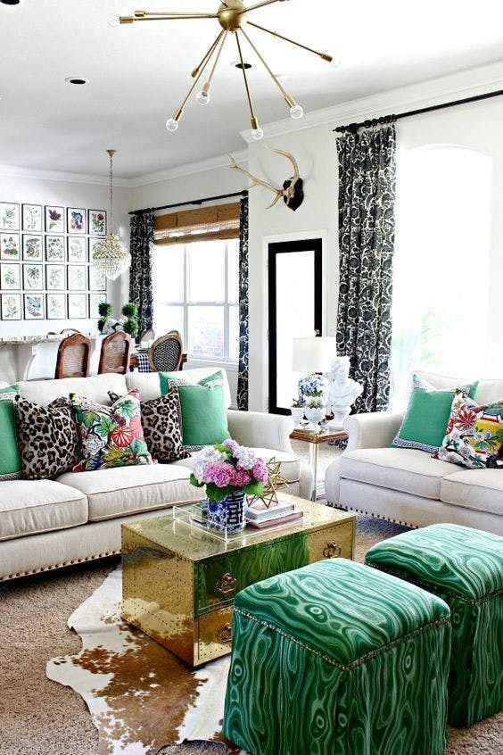 Seriously Stylish Rooms That Rock The Color Green Living Decor