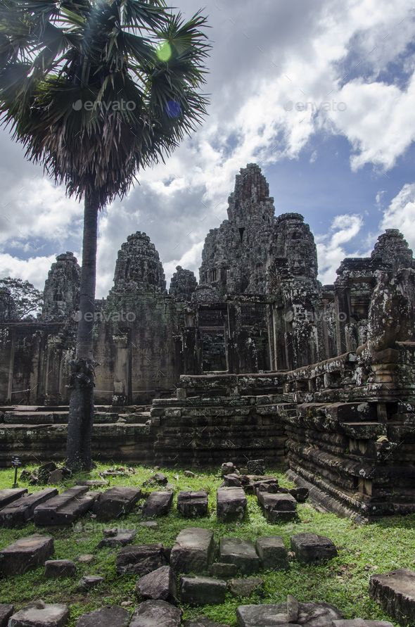Angkor Thom by sylwiabartyzel. Angkor Thom. Temple in Angkor at Siem Reap in Cambodia. Former Khmer city. #AD #sylwiabartyzel, #Temple, #Angkor, #Thom