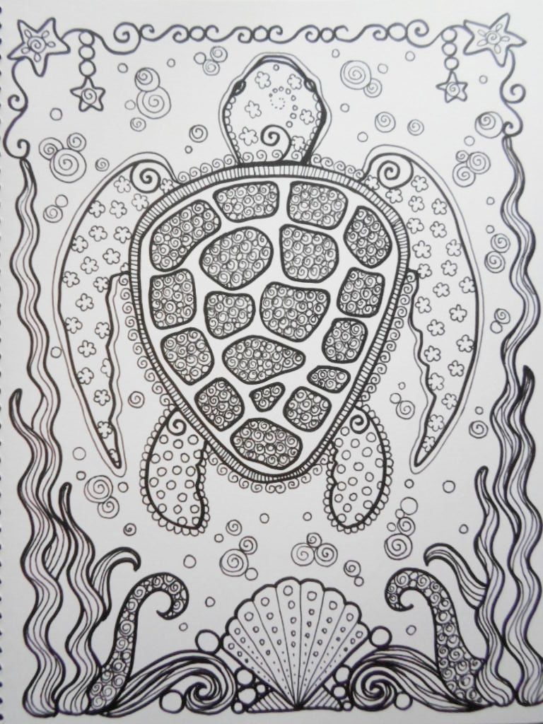 Färbung Buch Meeresschildkröten Coloring Book Sie von ChubbyMermaid ...