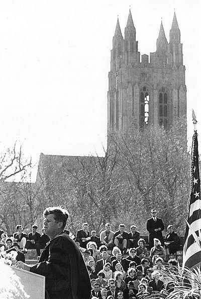 JFK at Boston College Convocation