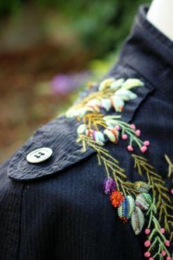 Veste brodée - Le fil à malice