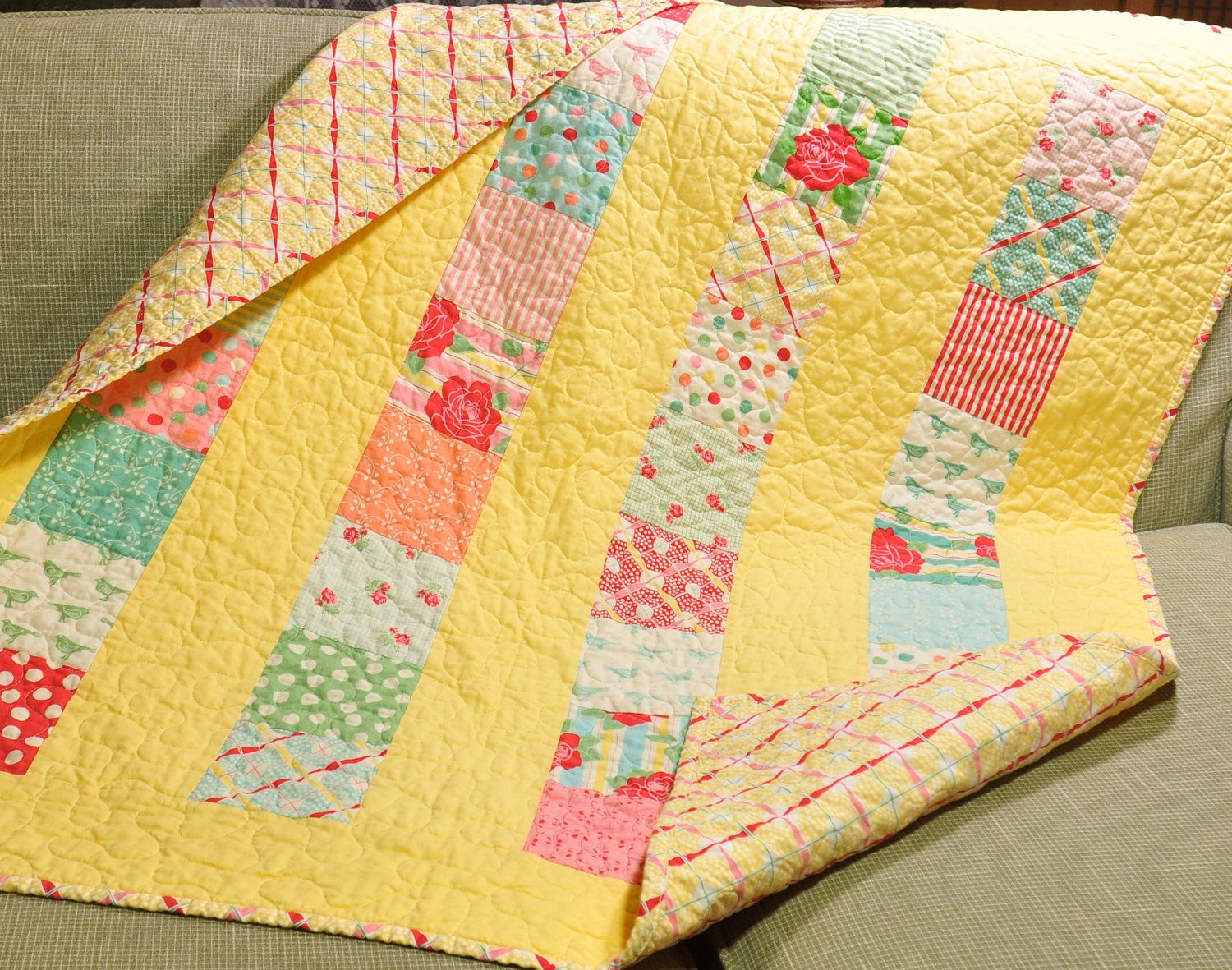 Baby crib quilts - Girl Quilt Baby Crib Sweet By Moda Baby Crib Quilt Girl Blanket 30s Style Fabric
