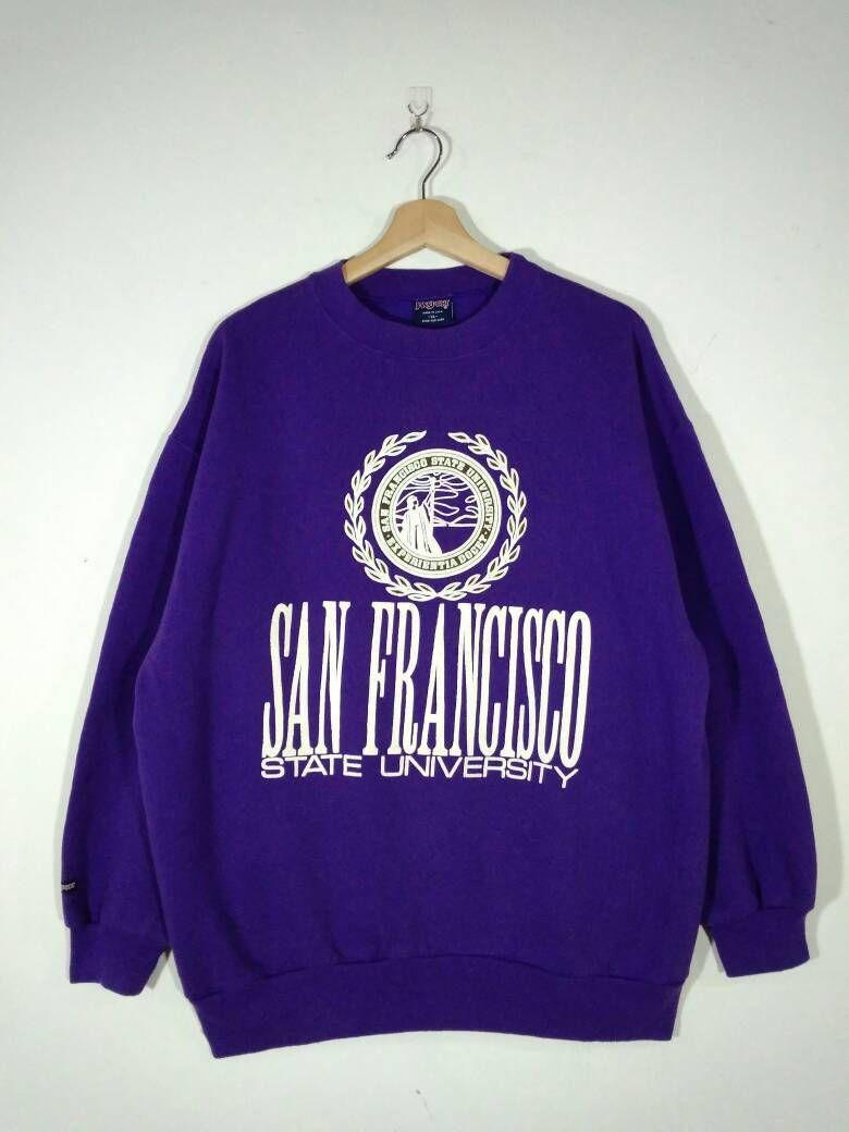 Rare Vintage San Francisco State University Spell Out Big Logo 50 50 Jansport Sweatshirt Sweater Jumper Siz Sweatshirts Sweatshirt Sweater Jumper Sweater [ 1040 x 780 Pixel ]