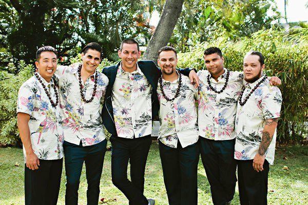 Groom In Hawaiian Shirt