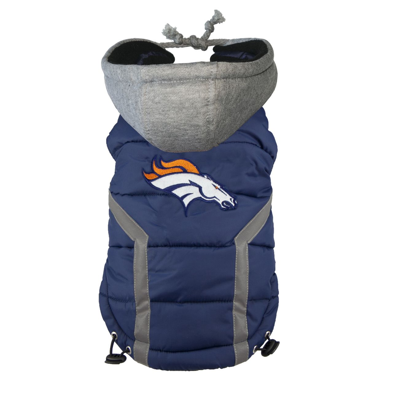 Denver Broncos Dog Puffer Vest : Athletic Pets $45 | Broncos ...