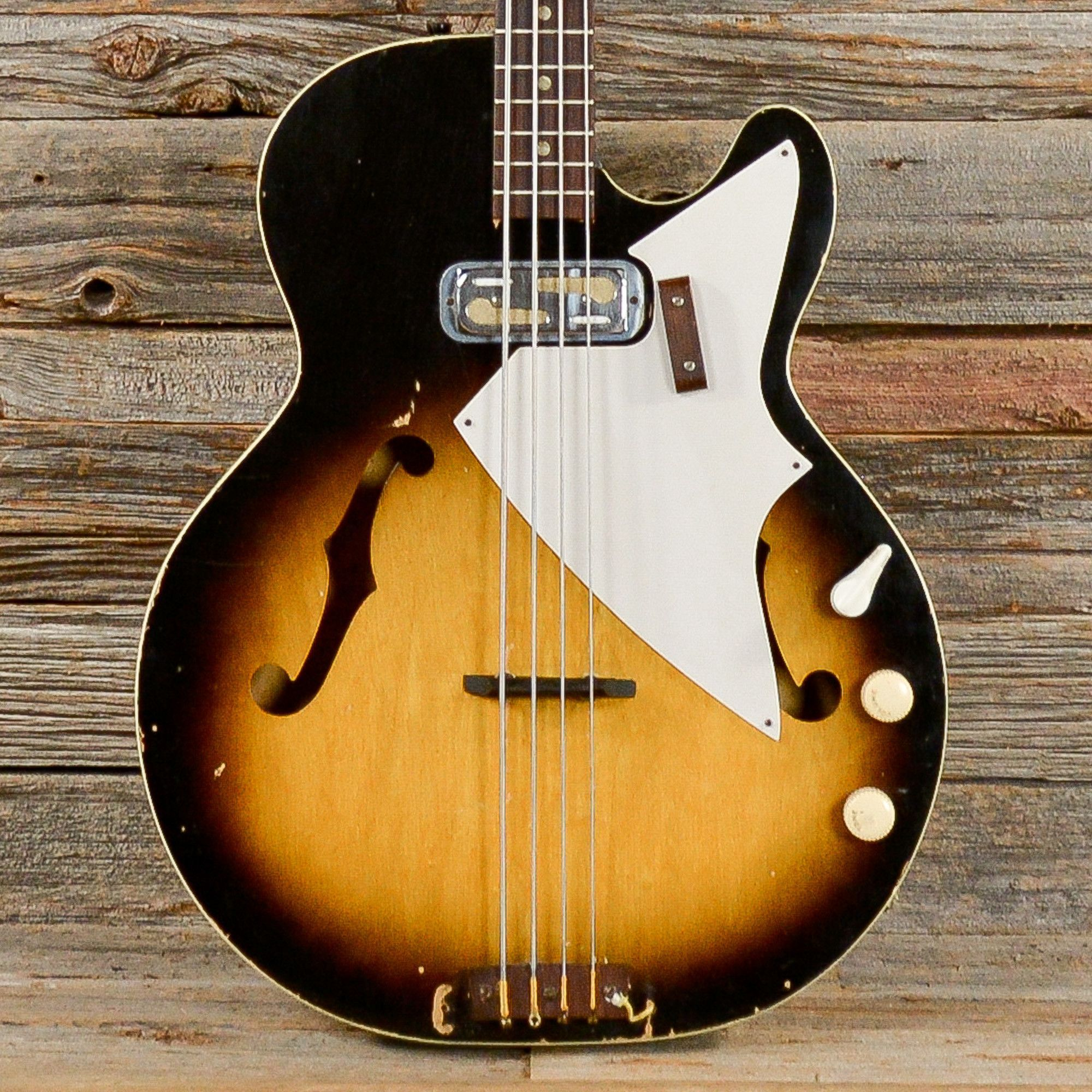 harmony h 22 hollow body bass sunburst 1961 s249 electric guitar in 2019 bass harmony. Black Bedroom Furniture Sets. Home Design Ideas