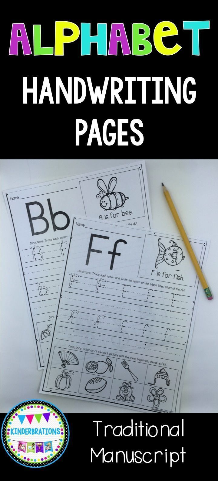 Alphabet Handwriting Practice Pages- ABC Writing   Handwriting ...