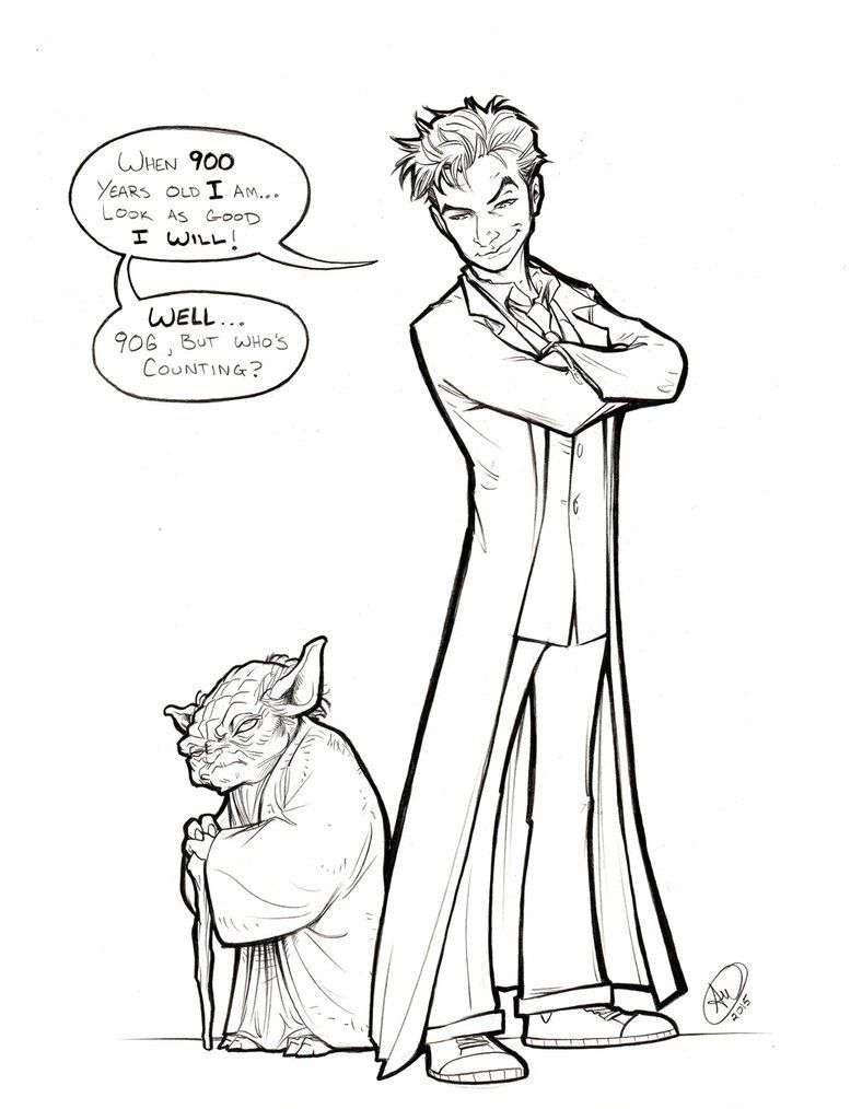 Star Wars And Doctor Who Coloring Page Doctor Who Fan Art 10th Doctor Coloring Pages