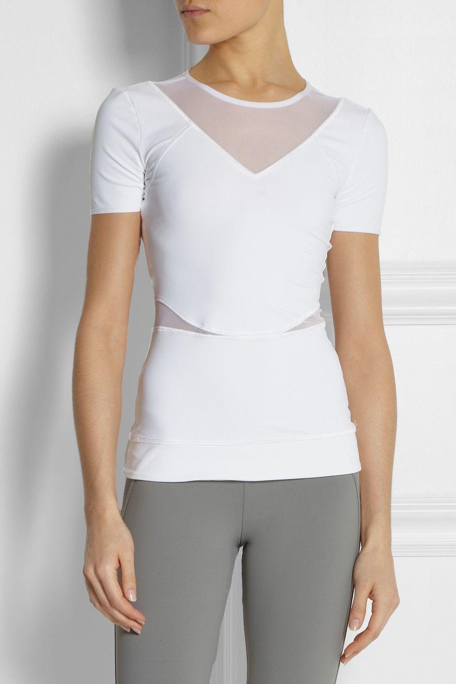 adidas by Stella McCartney - Run Climalite® stretch-jersey T-shirt