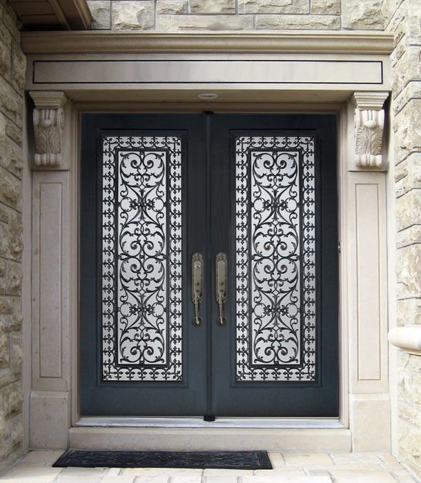 Wood doors Toronto, presented by M. Doors, manufacturer of custom wood doors  and wrought iron inserts - Antique Wooden Shutters - Google Search Woven Metal Pinterest