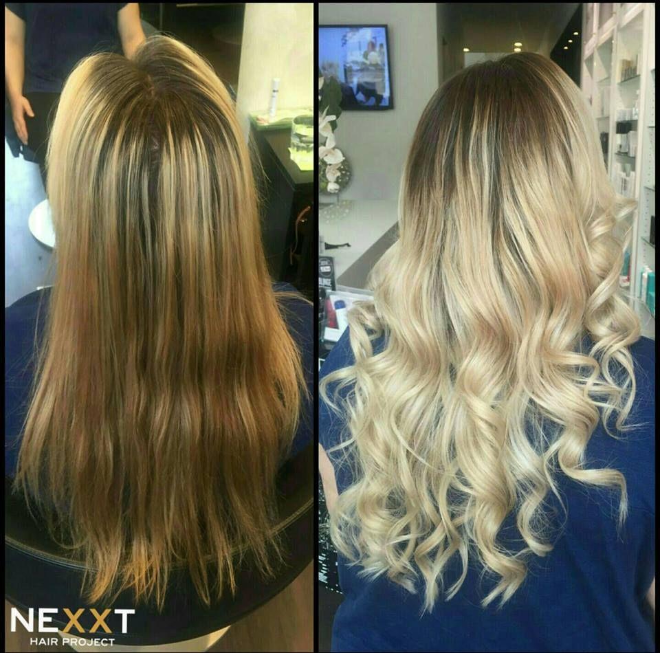 Von Braun Zu Blond Before And After Haircolor Pinterest Hair