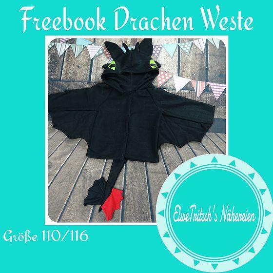 Drache, Drachen Kostüm, Ohnezahn - elwetritschs | FREEBIES, 110-140