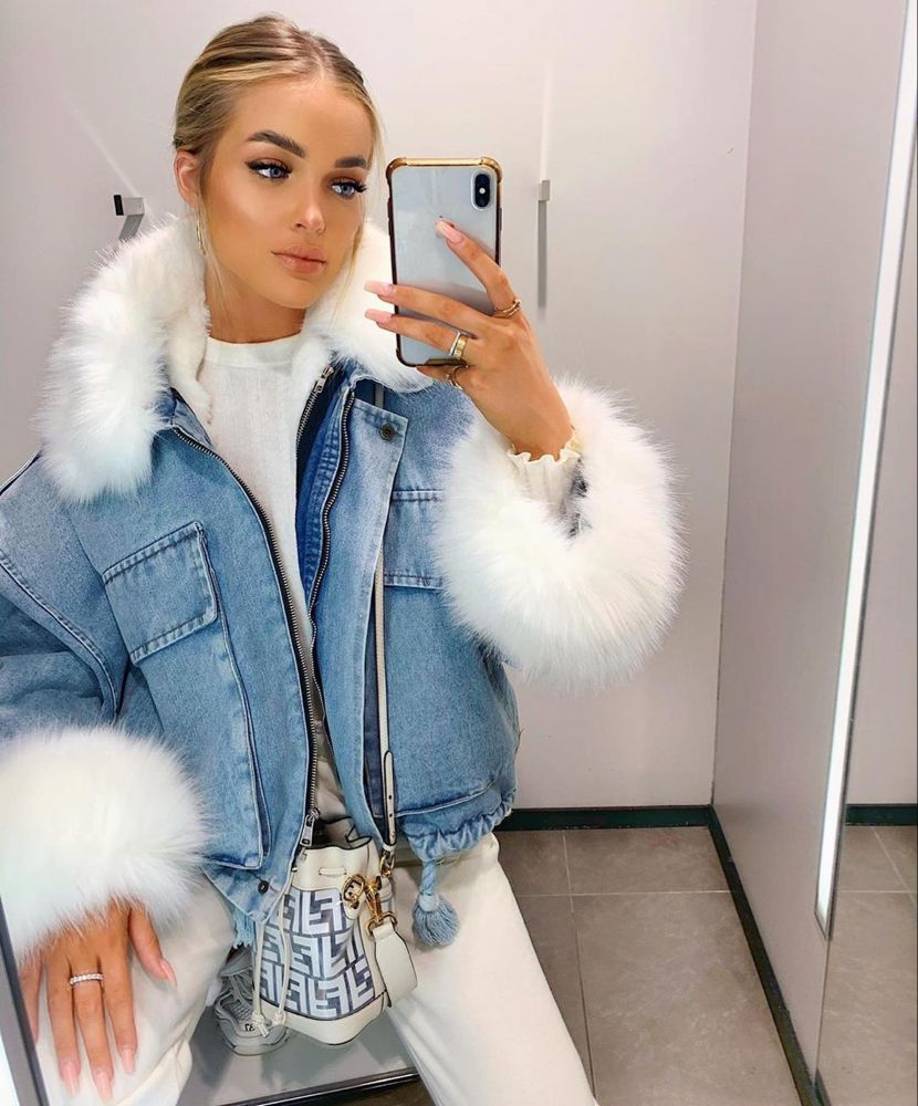 Glamifyfashion On Instagram Like Tag To Win We Re Giving You The Chance To Win The U Denim Jacket With Fur Fashion Jacket Outfits [ 1000 x 830 Pixel ]