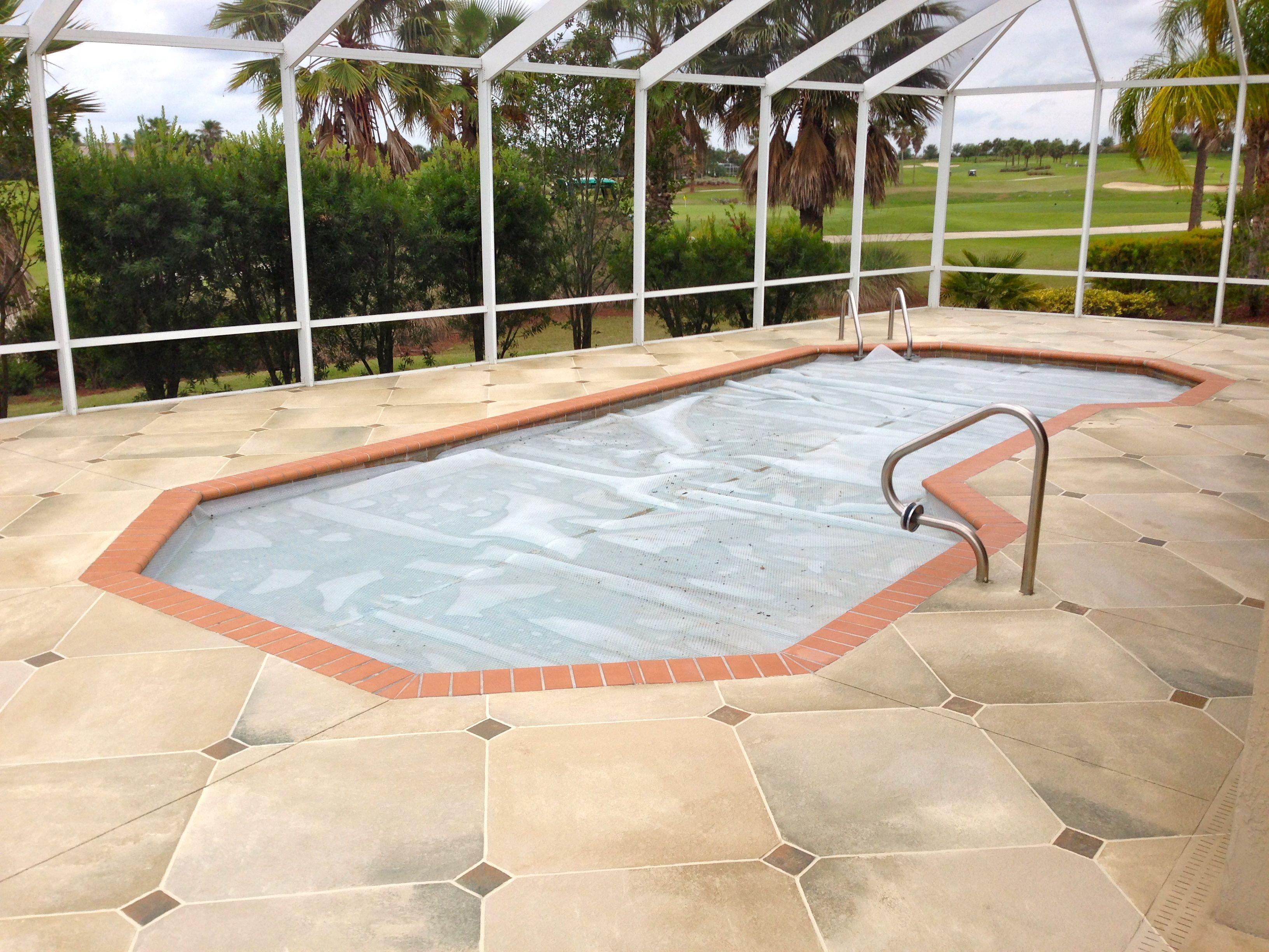Charming Concrete Pool, Pool Decks, Travertine Tile, Patio, Backyard, Diamond Paint,