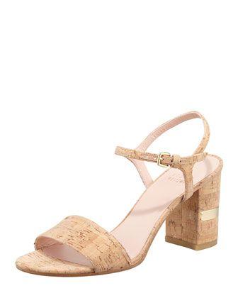 cheap USA stockist from china cheap price Stuart Weitzman Cork Slingback Sandals fashionable online cheap genuine TafBFJ9No