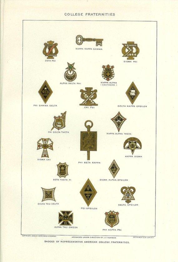 Panhellenic Theta1870 Sorority And Fraternity Fraternity Sorority Pins
