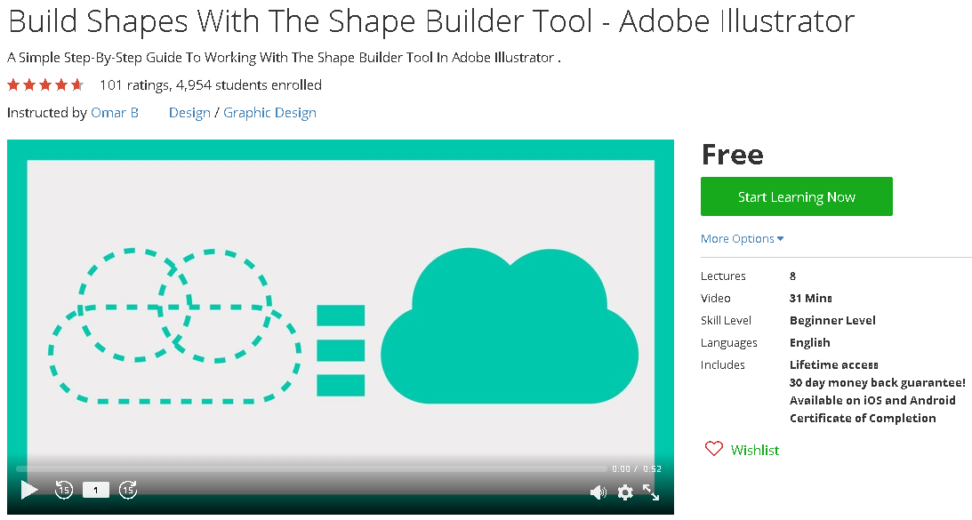 Build Shapes With The Shape Builder Tool - Adobe Illustrator-udemy ...