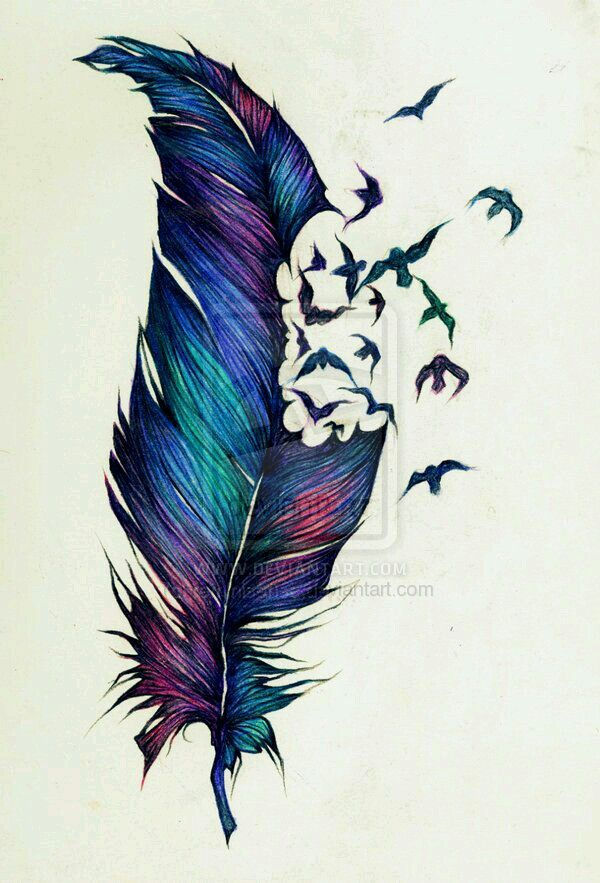 feather bird tattoo body art en 2018 pinterest tatouage tatouage plume et tatouage paon. Black Bedroom Furniture Sets. Home Design Ideas