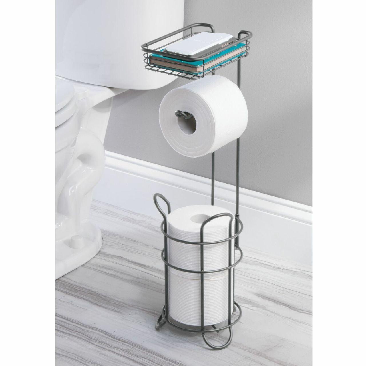 Toilet Tissue Paper Roll Dispenser Storage Shelf Toilet Paper Holder Toilet Paper Holder Stand Toilet Paper Roll Holder