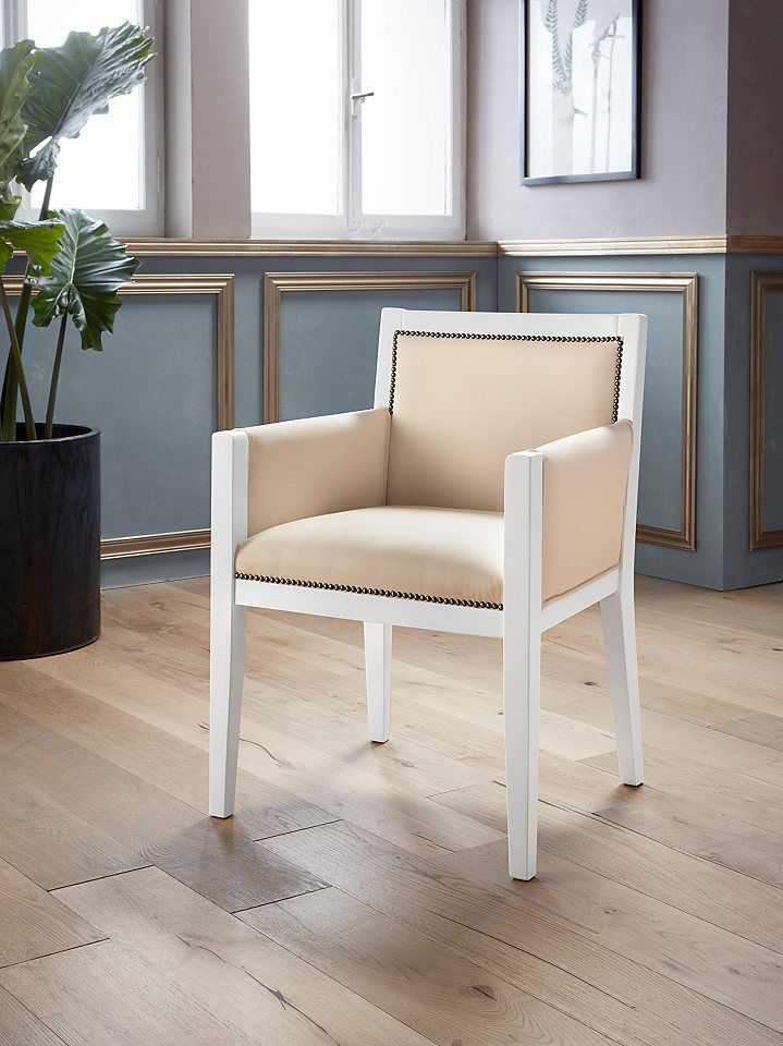 Places of Style Armlehnstuhl »Executive« mit Massivholzgestell in - www küchen quelle de