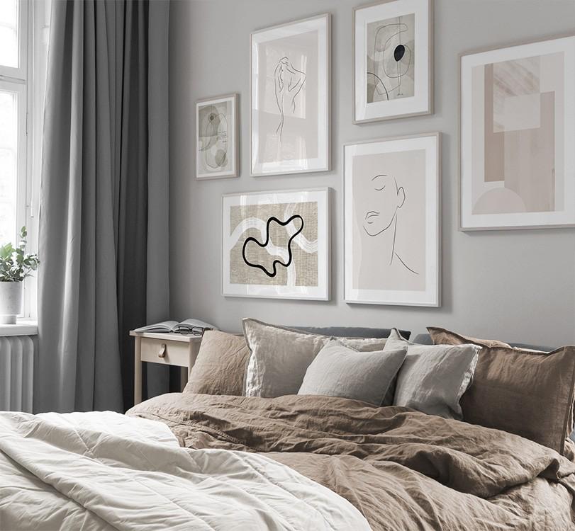 Billedvaeg I Sovevaerelse Indretning Og Plakater Til Sovevaerelset Sovevaerelse Boligindretning Billedvaegge