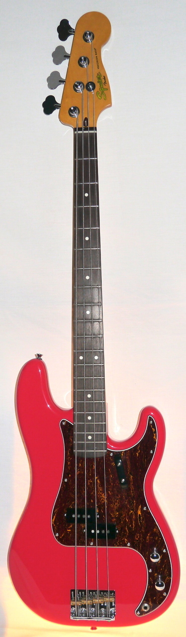 Indian Creek Guitars - Squier Classic Vibe 60's Precision Bass  - Fiesta Red, $289.00 (http://www.indiancreekguitars.com/squier-classic-vibe-60s-precision-bass-fiesta-red/)