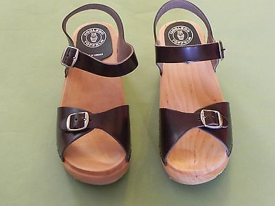 AUTHENTIC UGGLEBO SWEDISH CLOGS - SANDALS BROWN Size 39 (8 US)