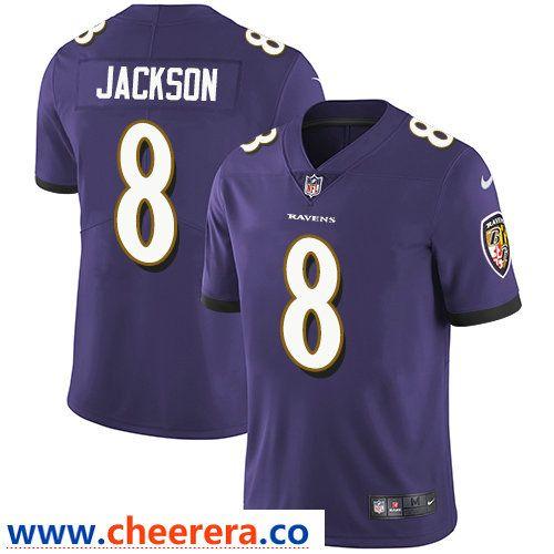 Nike Baltimore Ravens  8 Lamar Jackson Purple Team Color Men s Stitched NFL  Vapor Untouchable Limited 53ac83fb3