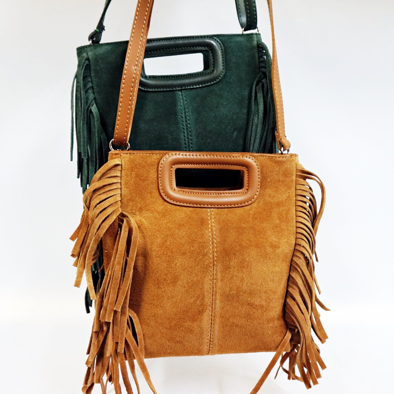 2ffc385bdc Suede Fringe Crossbody Bag