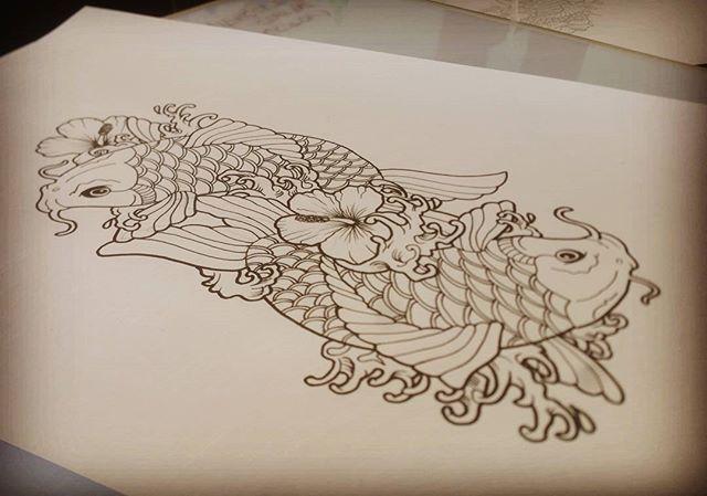 L6 Ilustración para tattoo cover.  Signo de piscis hecho con carpas koi. (En proceso, falta color). Mad Cat Tattoo e Ilustracion. El Bierzo. #tattoo #tatuaje #tattoolife #dotwork #tattooartist #tatuador #skinartmag #inkedmag #thebestspaintattooartis #black #love #art #drawing #ponferrada #bierzo #madcat #madcattattoo #madcattoo #bierzotattoo #ponferradatattoo #bierzoilustracion…