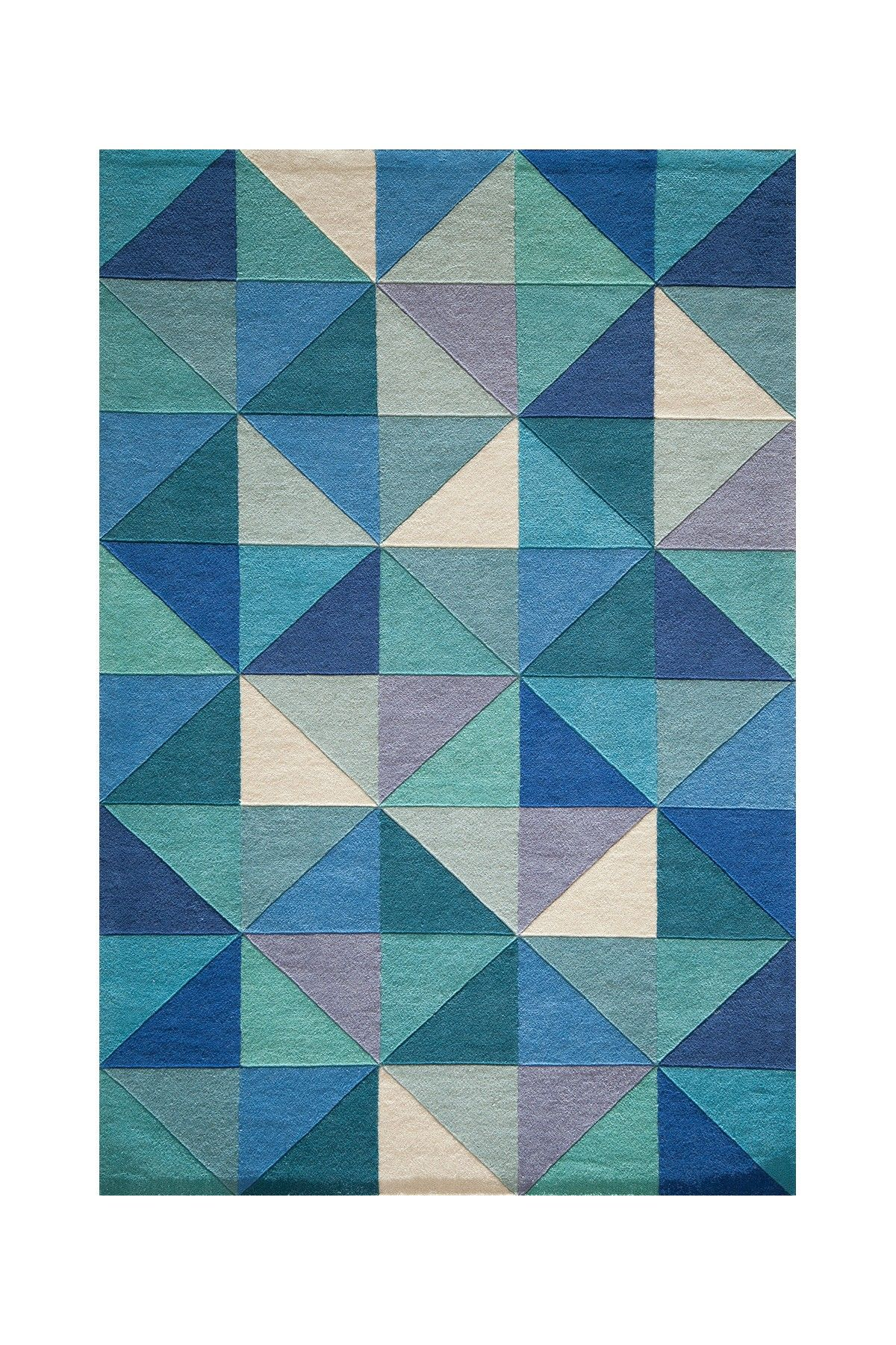 Delhi Collection Wool Rug - Blue