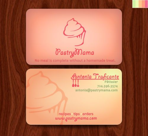 Bakery Business Cards  Examples Of Pastry Shop Business Cards