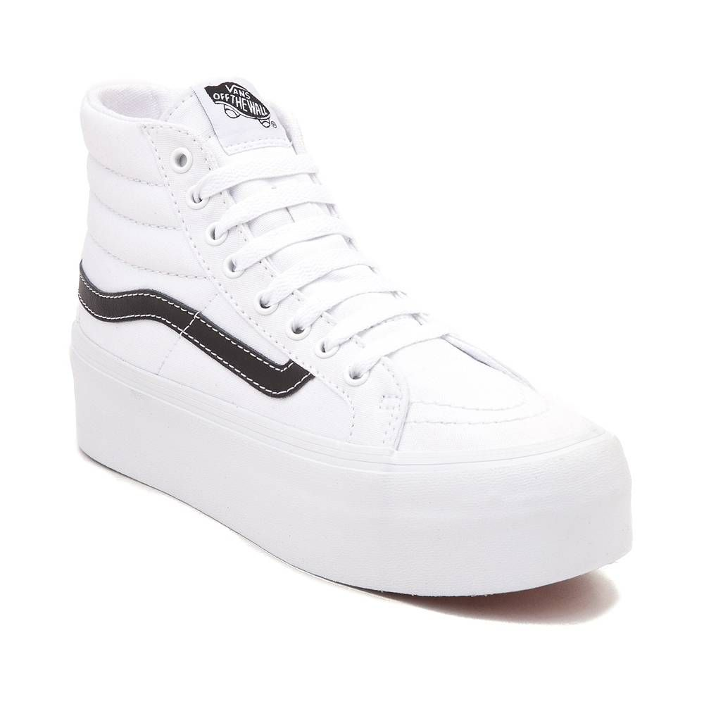 47414c79 How to Wear Platform Sneakers | Fasion | Vans sk8 hi platform, High ...