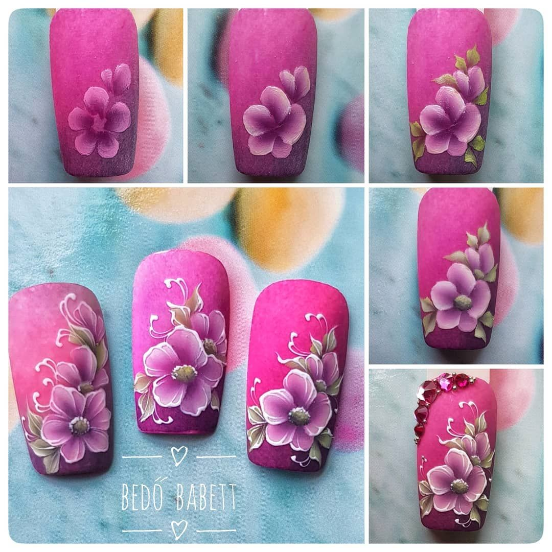 Ghim Của Zaneta Kokoszka Tren Nails Flowers Mong Tay Mong Chan Hoa