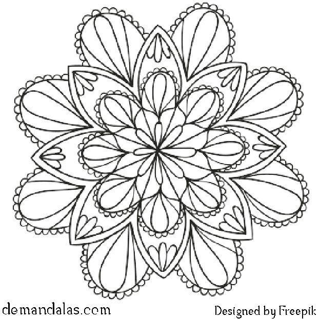Mandala Para Imprimir En Pdf Mandalas Disenos De Mandalas
