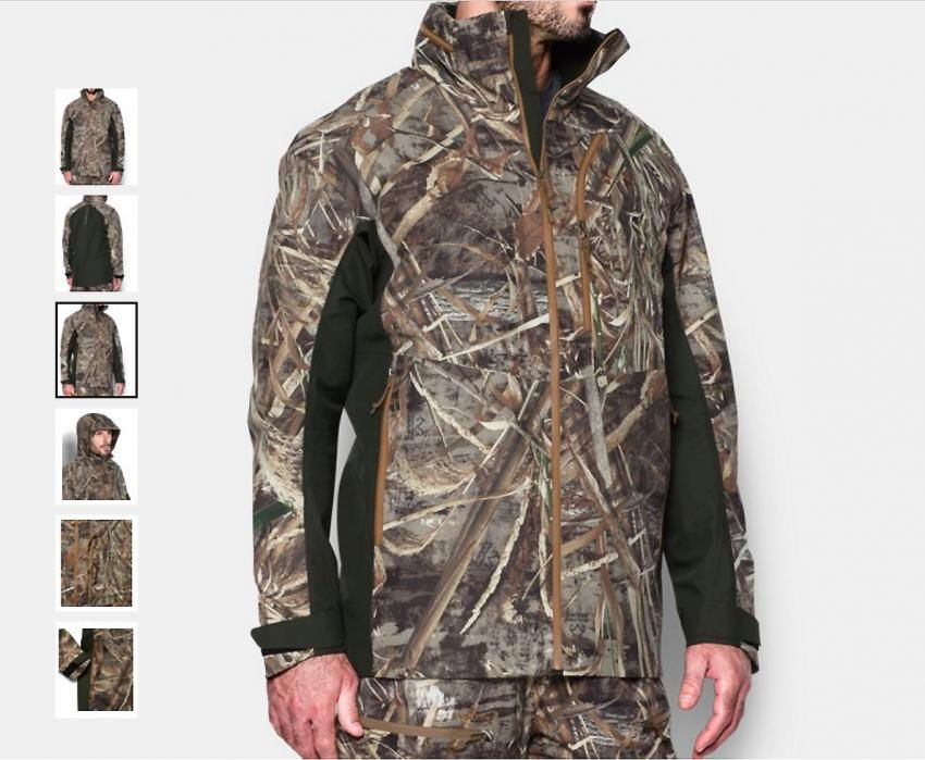 15455aa6 Under Armour Realtree max-5 skysweeper shell men's jacket | New Fall Line