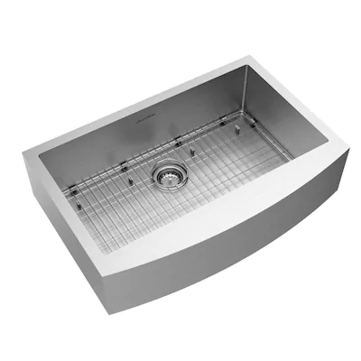 American Standard Suffolk 33 In X 22 In Stainless Steel Single Bowl Tall 8 In Or Larger Undermount Apron Front Farmhouse Residential Kitchen Sink With Drainbo In 2020 Drainboard Sink Kitchen Sink Sink