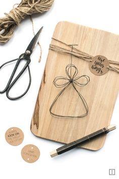 DIY Geschenk Idee - Glücksengel aus Draht #christbaumschmuckbastelnkinder