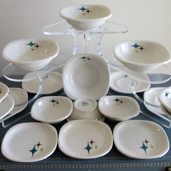 Mid Century Modern Atomic Syracuse China SMALL PLATE - Trend Style ...