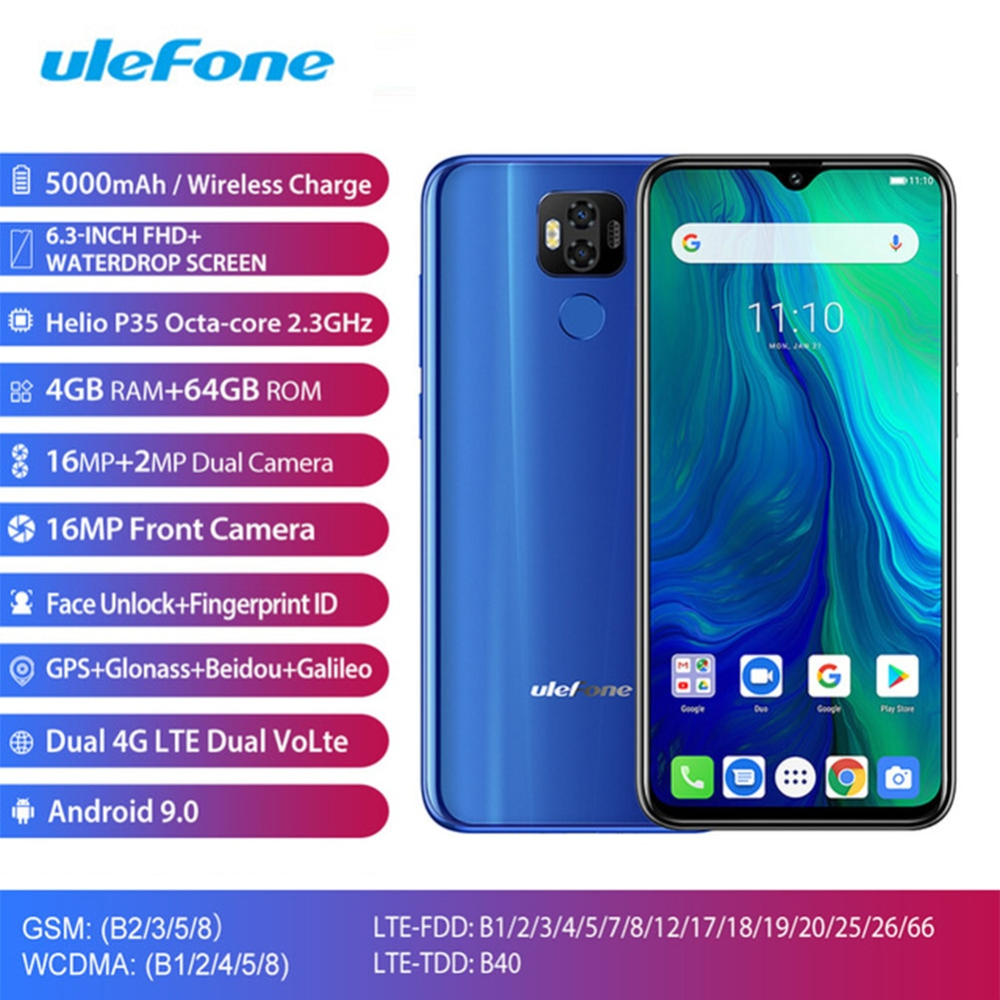 Ulefone Power 6 Android 9.0 4G LTE Mobile Phone MTK6765V