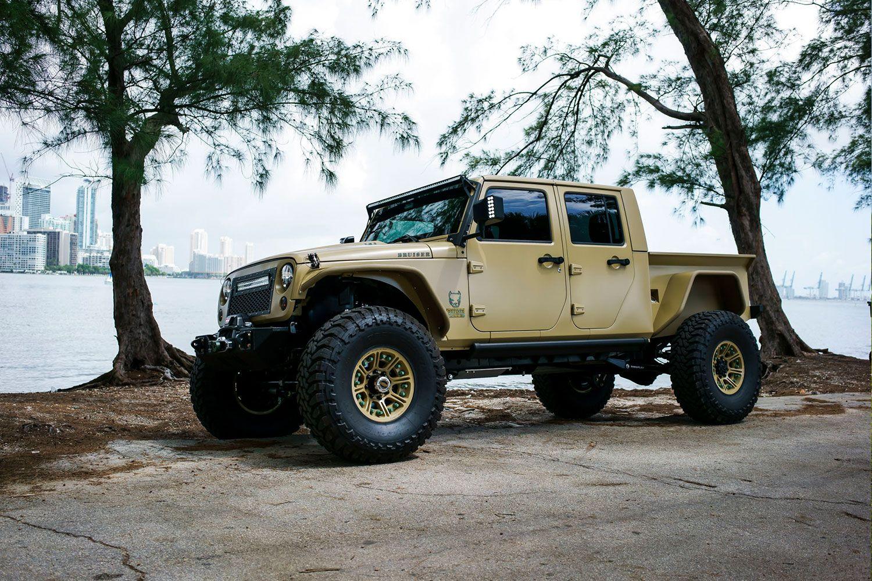 Jeep Truck Jk Crew Conversion Jeep Truck Jeep Gladiator Jeep