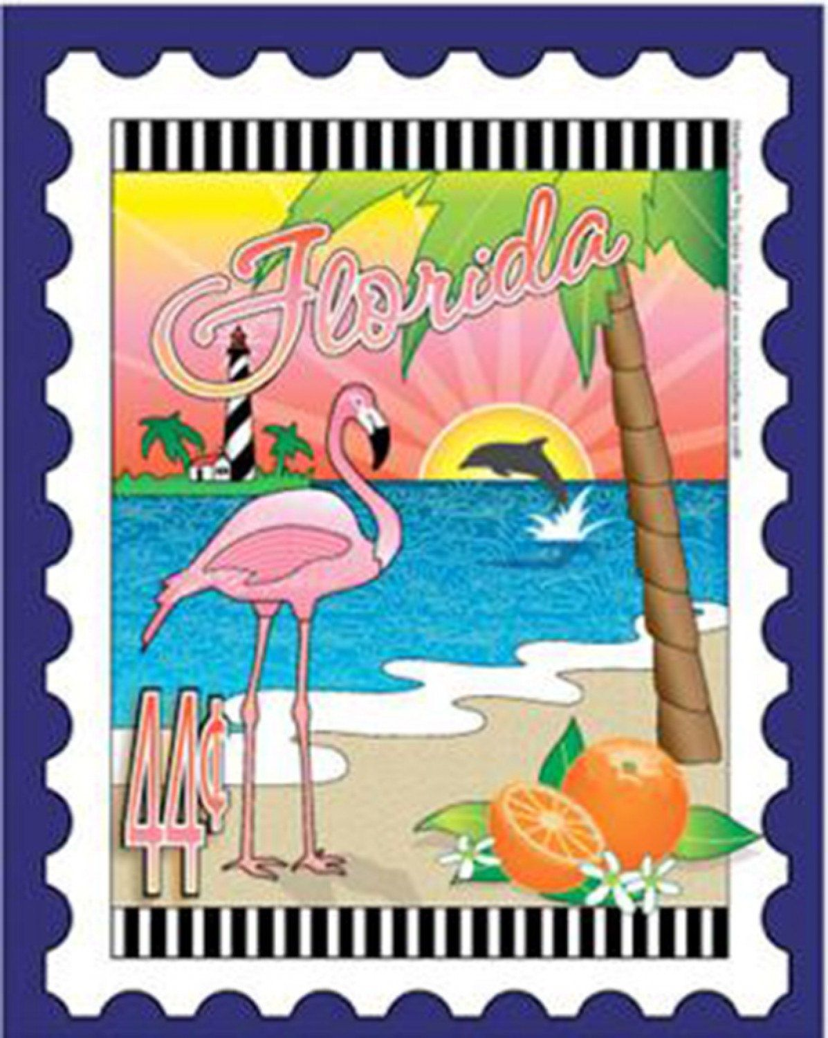 State Stamp Fabric Panel Florida Mini Panel By Debra Gabel For