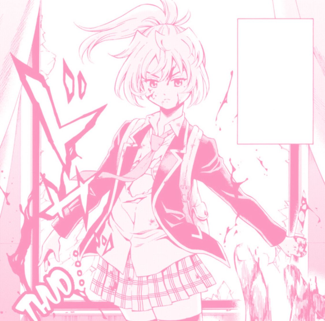 High Rise Invasion In 2021 Anime Pink Aesthetic Girl Anime pink wallpaper gif