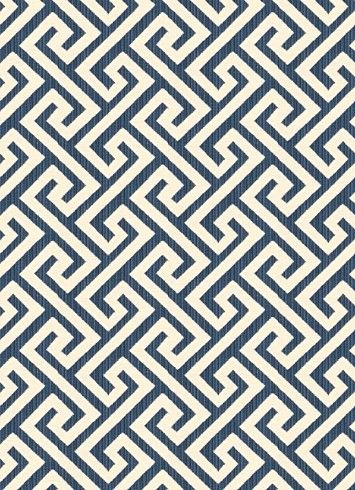 03359 Navy Vern Yip Fabric Collection Jacquard Greek Key Geometric Content 72 Cotton 28 Polyester Perfect For Bedding Drapery Or